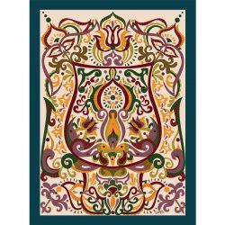 Őszi tarsoly Fodorinda falikép, digitális grafika a honfoglaláskori minták világának felhasználásával.
