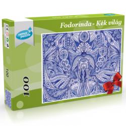 Kék világ tollrajzból készült Fodorinda kirakó, mellyel igazán elmélyülhetsz a kép rejtelmeiben.