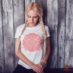 Fodorinda női póló mandala mintával
