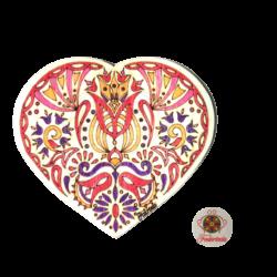 Fodorinda színes szív hűtőmágnes, a szeretet szimbóluma
