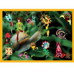 Csigalovag keretezett kép Fodorinda