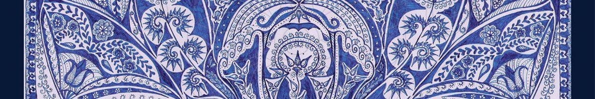 Kék és világ. Kék világ tollrajz.